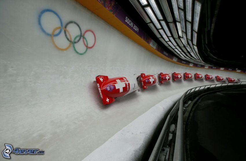bobsleigh, Anneaux olympiques