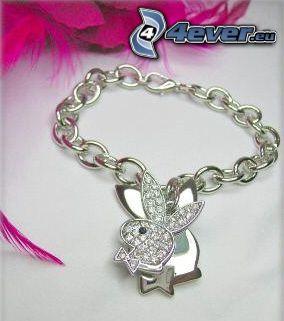 bracelet, Playboy, bijoux