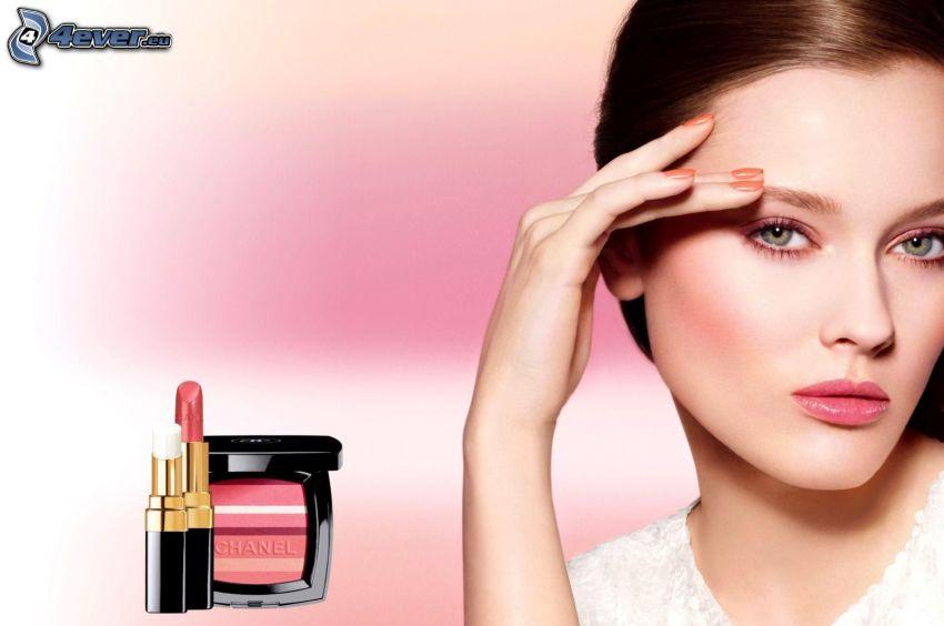 Chanel, rouge à lèvres, brune