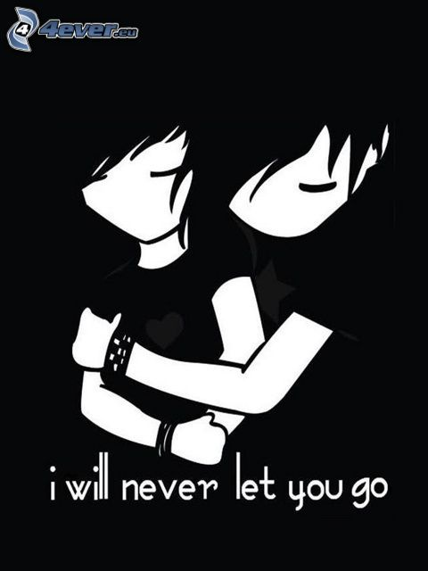 I will never let you go, emo couple, emo étreinte, amour