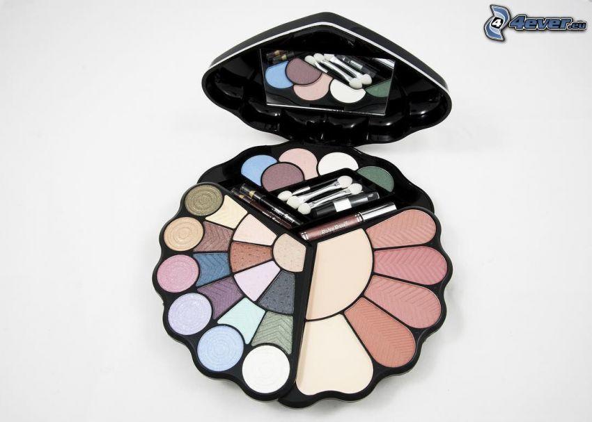 make-up, Brosses, miroir