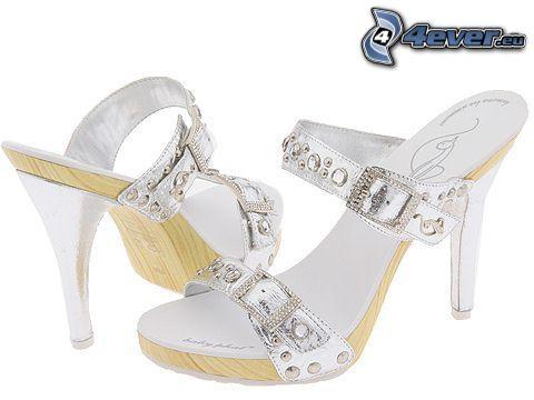 chaussure, bijoux, talon