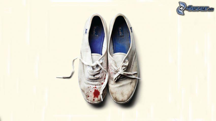 chaussures, sang