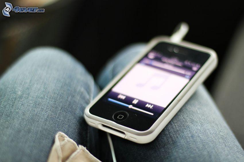 iPhone, jambes