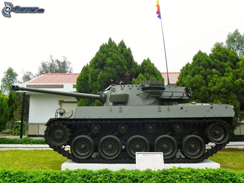 M18 Hellcat, char, exposition, parc