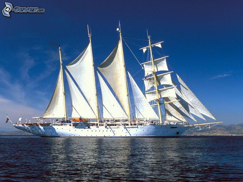 bateau à voile, mer