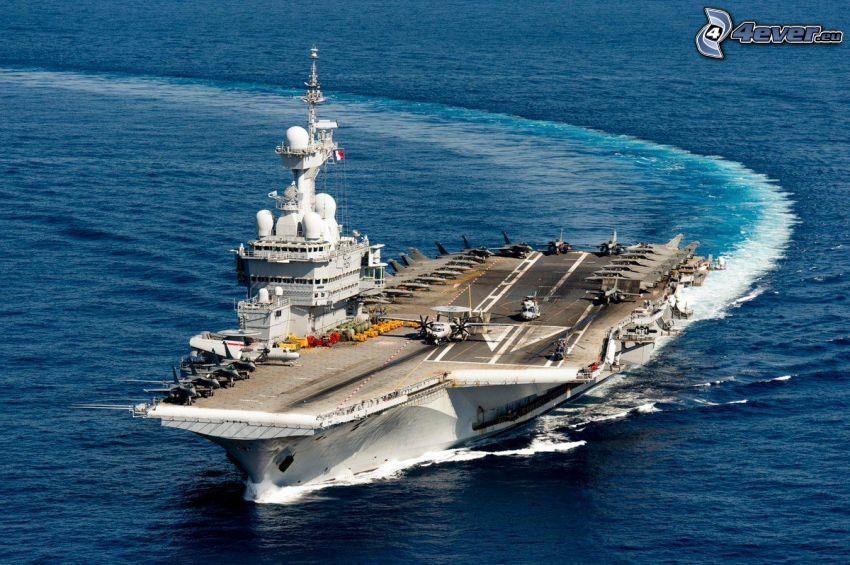 R91 Charles de Gaulle, porte-avions, tournant