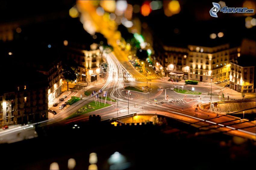 routes, diorama