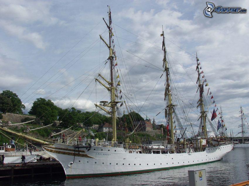 Sørlandet, bateau à voile, port