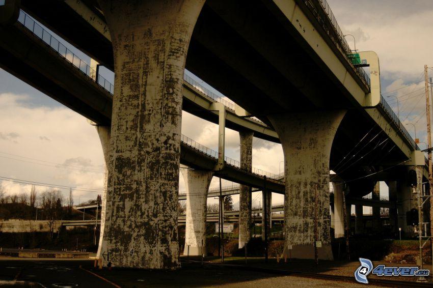 sous le pont, route
