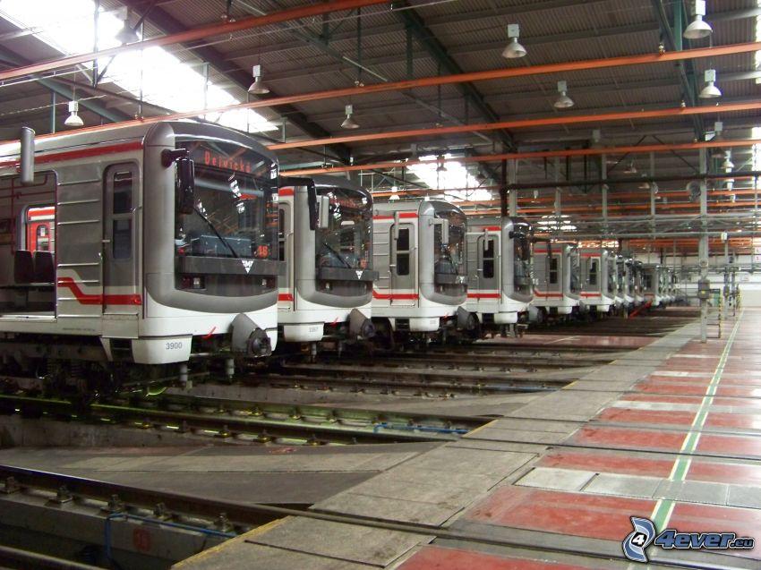 dépôt, métro, Prague