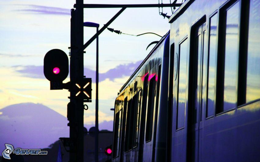 feux tricolores, train