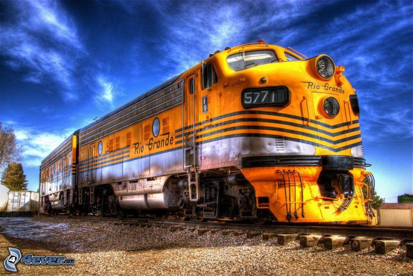 locomotive, HDR