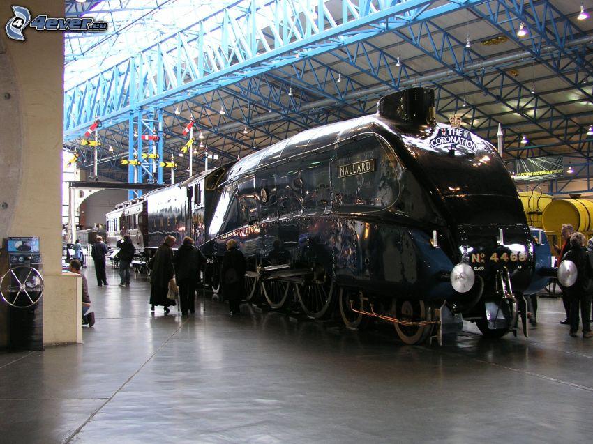 Mallard, train à vapeur, gare