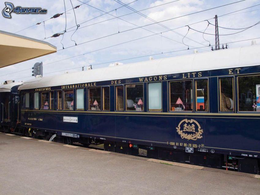Orient Express, wagon, Pullman, gare