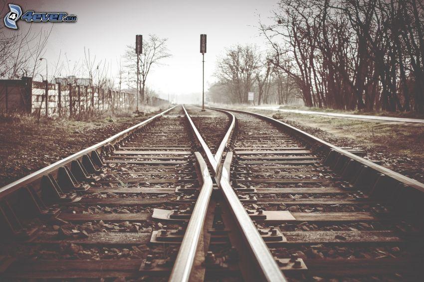 rails, feux de signalisation