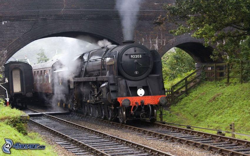 train à vapeur, chemins de fer