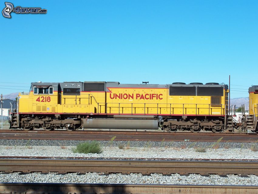 Union Pacific, locomotive, rails