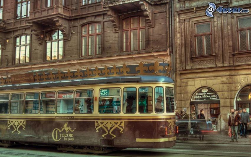 tramway, rue