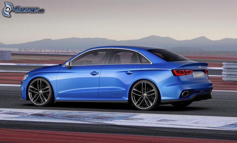 Audi RS3, montagne