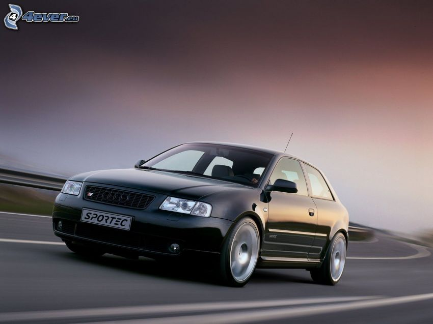 Audi S3, route, tournant, la vitesse