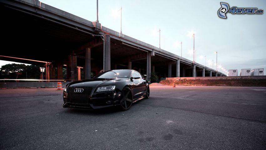 Audi S6, pont, lampadaires
