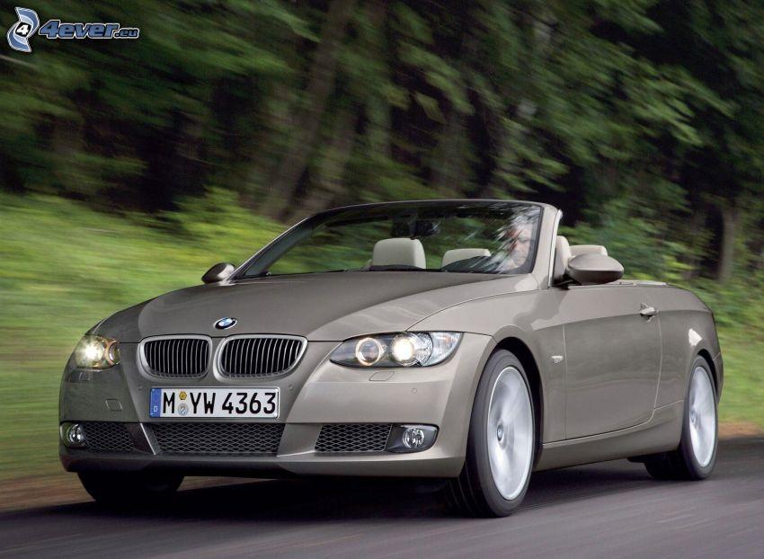BMW 3, cabriolet, la vitesse