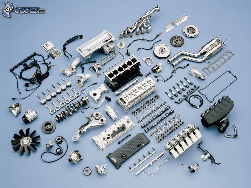 BMW M3, pièces, moteur