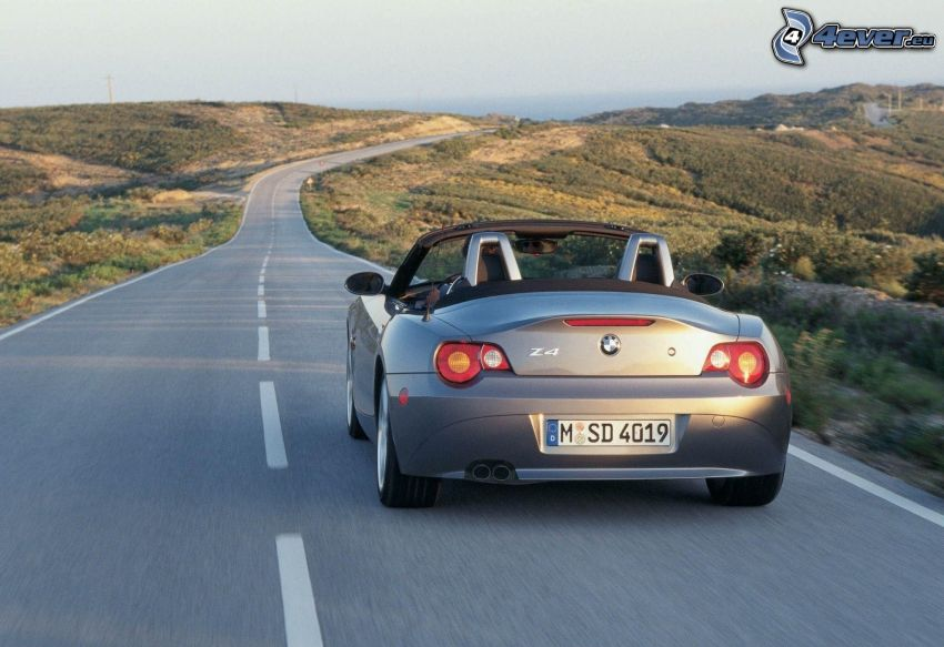 BMW Z4, cabriolet, route