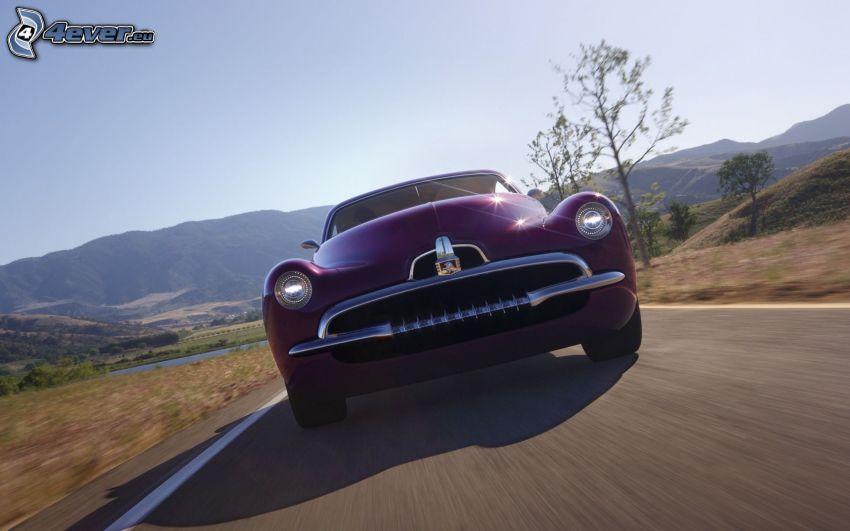Efijy Concept, la vitesse, montagne