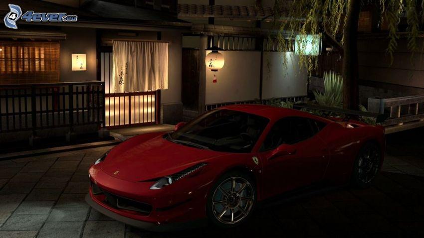Ferrari, maison, obscurité