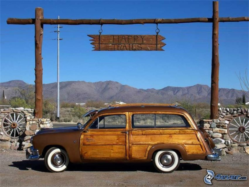 Ford Woody, automobile de collection, montagne