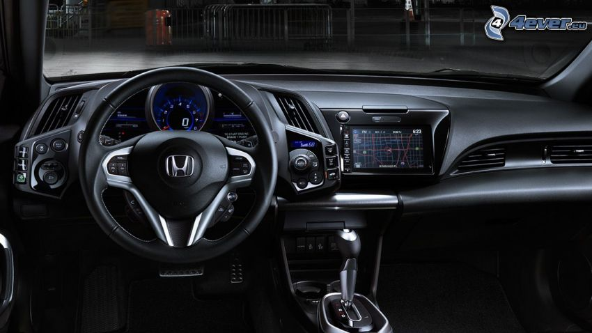 Honda CR-Z, intérieur, tableau de bord, volant