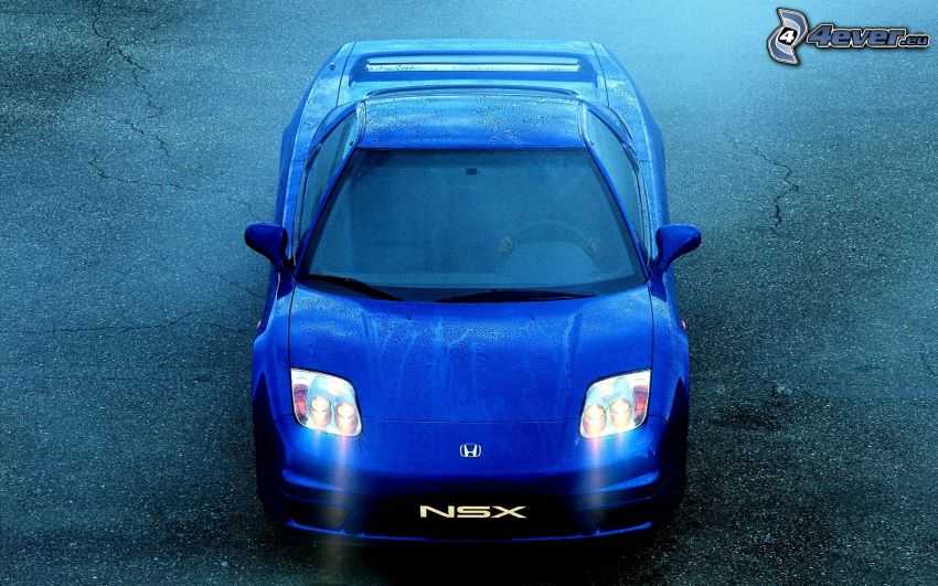 Honda NSX, pluie