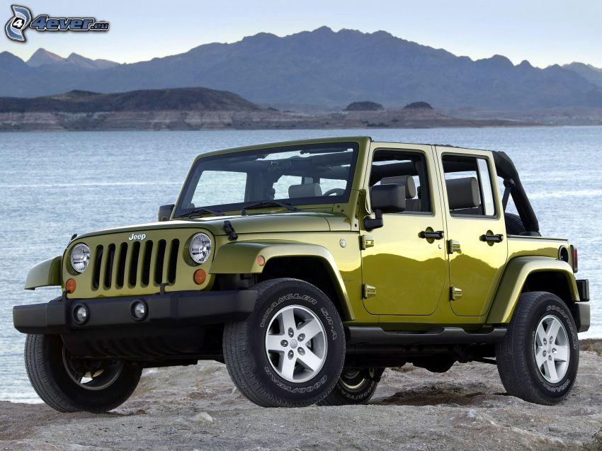 Jeep, grand lac