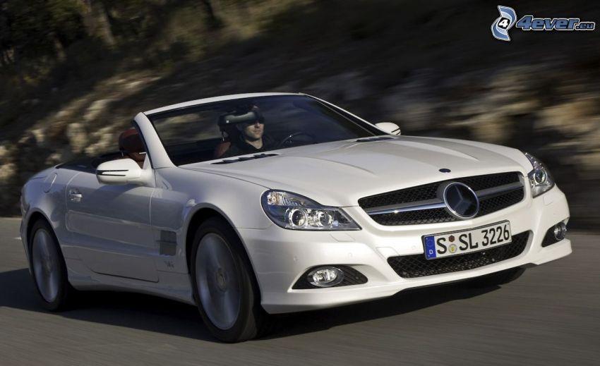 Mercedes SL, cabriolet, la vitesse