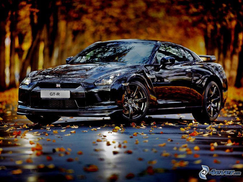 Nissan Skyline GT-R R35, les feuilles d'automne