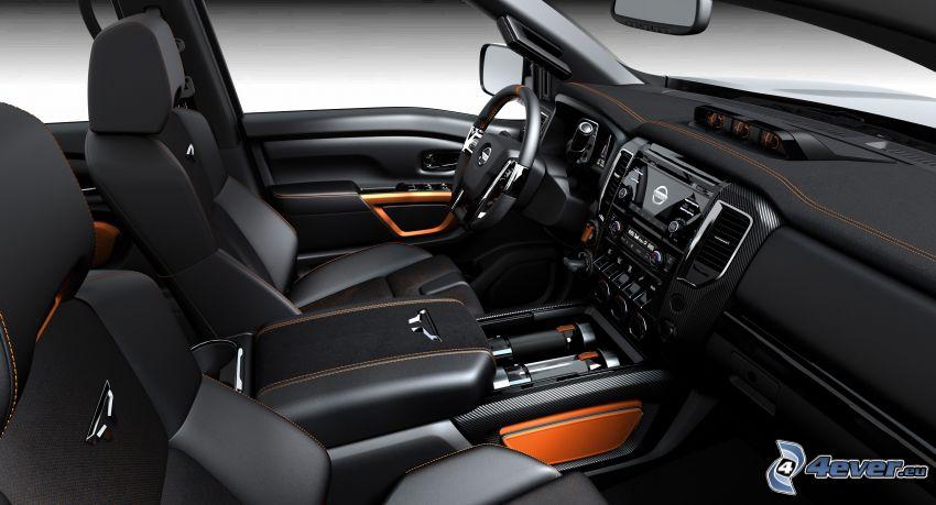 Nissan Titan, intérieur, volant