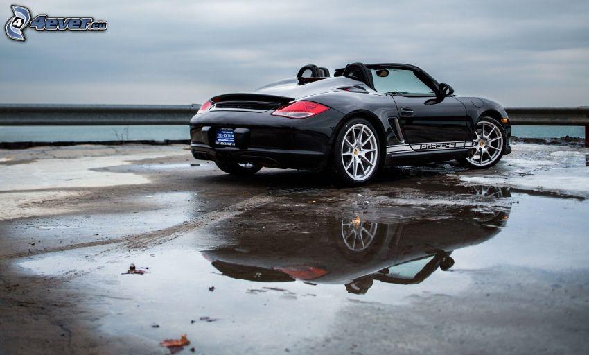 Porsche Boxster, cabriolet, éclaboussure, reflexion