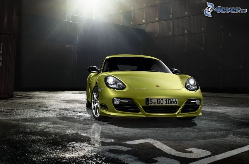 Porsche Cayman, rayons du soleil