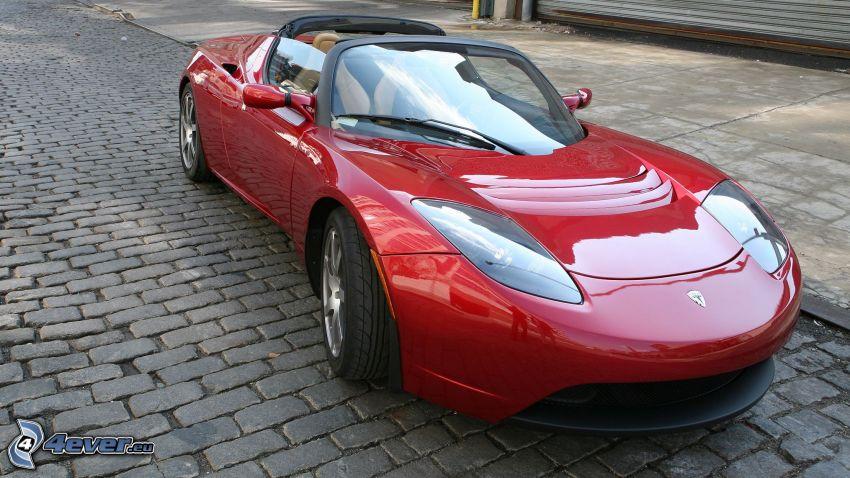 Tesla Roadster, cabriolet, pavage