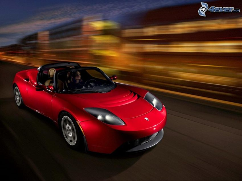 Tesla Roadster, la vitesse, cabriolet