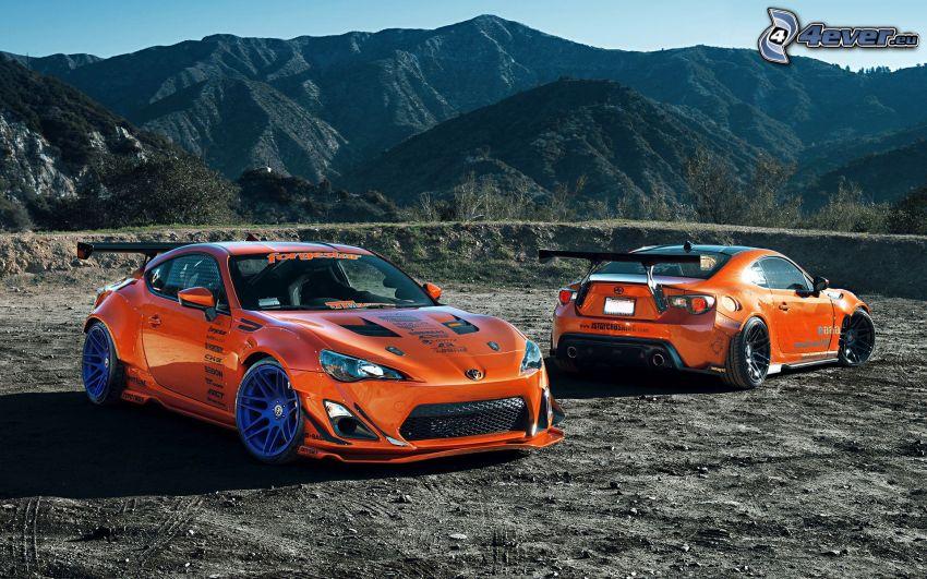 Toyota, voiture de course, collines