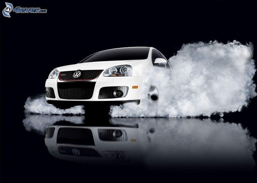 Volkswagen Golf GTI W12, fumée