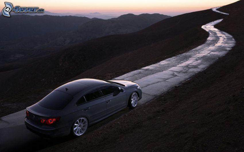 Volkswagen Passat CC, route, montagne