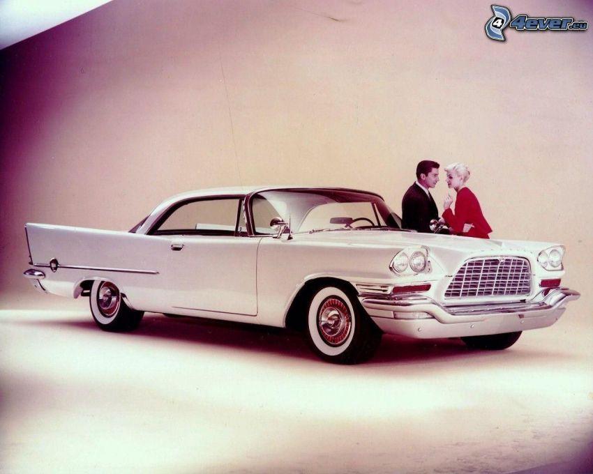 automobile de collection, couple, amour