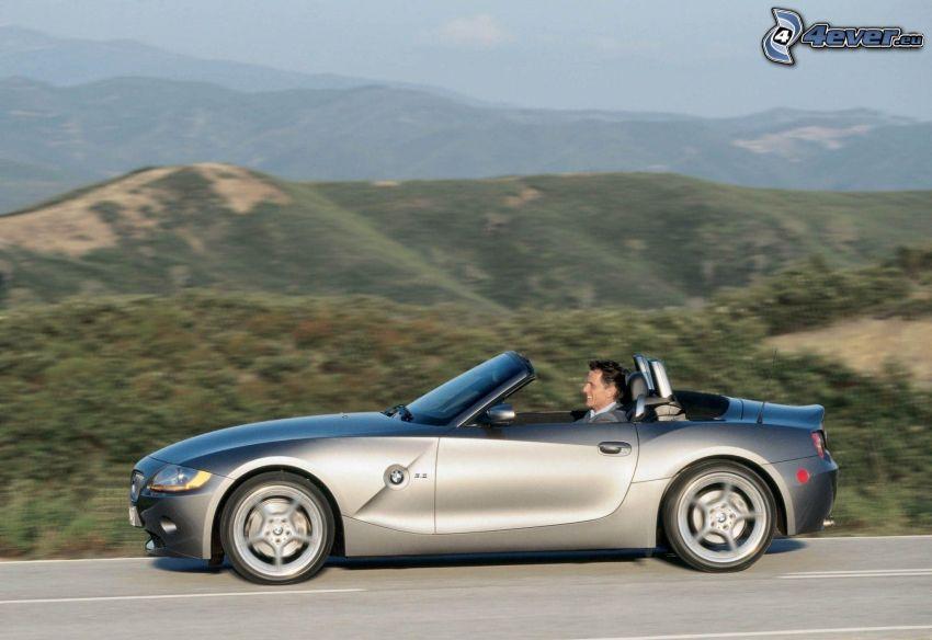 BMW Z4, cabriolet, la vitesse, collines
