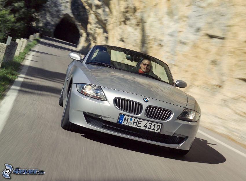 BMW Z4, cabriolet, la vitesse, rocher