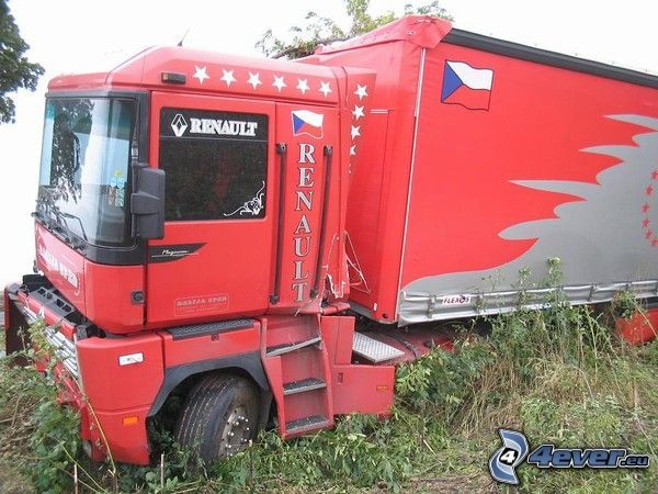 camion, Renault, accident