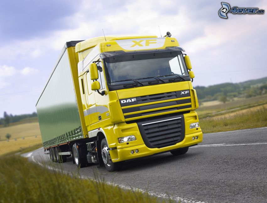 DAF XF 105, camion, route